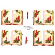 3D ark julelys i bog