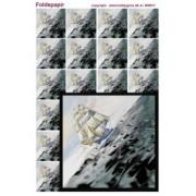 Foldepapir firkantet sejlskib