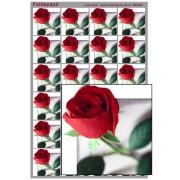 Foldepapir firkantet rød rose
