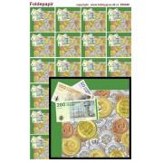 Foldepapir firkantet penge