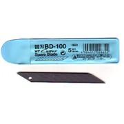 Knivblade BD-100 til NT-cutter D-400 og cirkelskærer 5 stk.