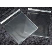 Cellofanposer 16,5 x 16,5 cm klar m/ limluk