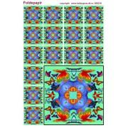 Foldepapir firkantet grøn/blå