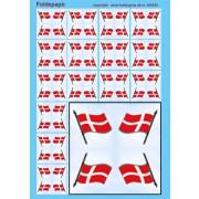 Foldepapir firkantet flag