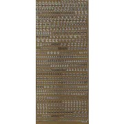 Stickers bogstaver og tal guld 1847