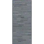 Stickers bogstaver og tal sølv 1847