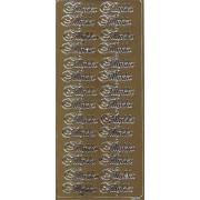 Stickers tillykke guld 6677