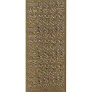 Stickers firkløver guld 102